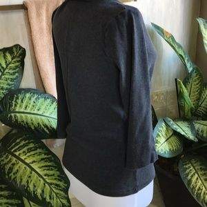 Caslon Tops - Caslon charcoal gray V-neck top